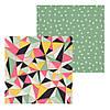 4 Лист двусторонней бумаги для скрапбукинга, коллекция Моя яркая жизнь 30х30 см.