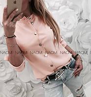 Женская стильная блуза софт на пуговицах, фото 1