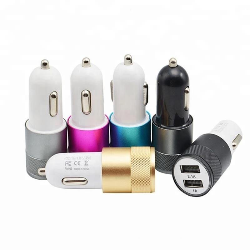 Автомобильное зарядное устройство 12v CAR USB Hammer HF-01 (2 разъёма) 2.1A в прикуриватель
