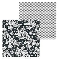 4 Лист двусторонней бумаги для скрапбукинга, коллекция Маленькая леди 30х30 см.