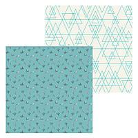 1 Лист двусторонней бумаги для скрапбукинга, коллекция Маленькая леди 30х30 см.