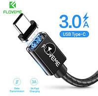Магнитный кабель FLOVEME Type-C (передача данных / зарядка) USB/Type-C, black, фото 1