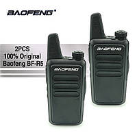 Комплект Раций Baofeng BF-R5\T7 Портативная радиостанция USB зарядка