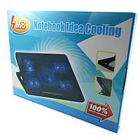 Подставка для ноутбука Notebook Idea Cooling M8 с подсветкой и охлаждением
