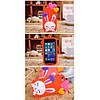 Чехол Cute Heart Hello Rabbit Оранжевый для IPhone 5/5S, фото 3