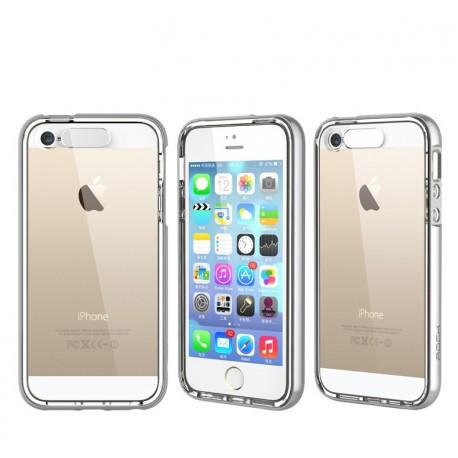 TPU світиться чохол ROCK для IPhone 5/5S Сріблястий