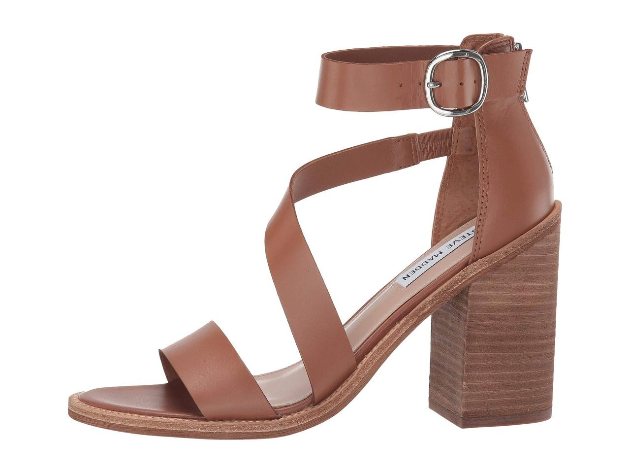 bab29b0fd9 ... Туфли на каблуке (Оригинал) Steve Madden Collins Heeled Sandals Cognac  Leather, ...