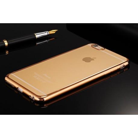 Прозрачный силиконовый TPU  чехол  для  iphone 6 /6s Позолоченный