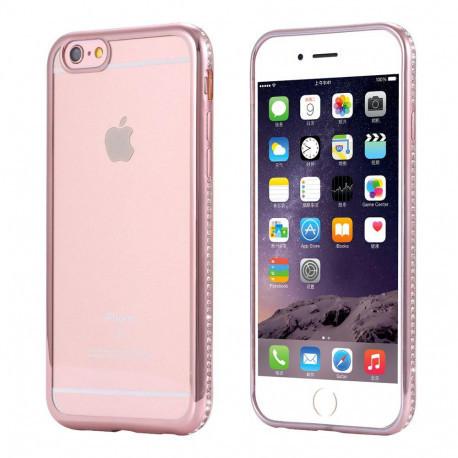 Силиконовый чехол для iPhone 6s+/6+ с алюминиевым бампером Gold