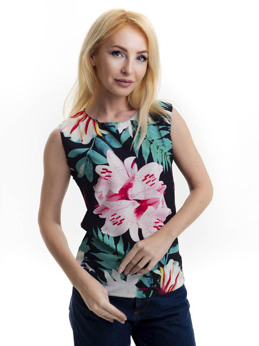Женская блуза принт без рукава AA2035f