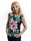 Женская блуза принт без рукава AA2035f , фото 3
