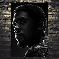 Постер Т'Чаллаб Чёрная пантера. Чедвик Боузман. Мстители 4: Финал, Avengers 4: Endgame. Размер 60x41см (A2). Глянцевая бумага