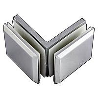 Крепление стекло-стекло 90° К902 хром нержавейка