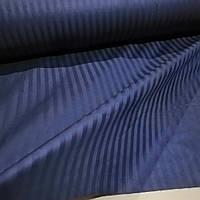 Сатин страйп 1/1 темно-синий 220 см
