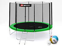 Батут Hop-Sport 10ft (305cm) green с внешней сеткой (4 ноги )