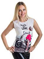 Женская блуза принт без рукава AA2047f, фото 1