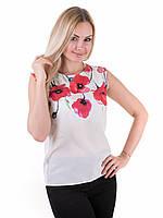 Женская блуза принт без рукава AA2048f, фото 1