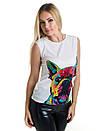 Женская блуза принт без рукава AA2049f, фото 4