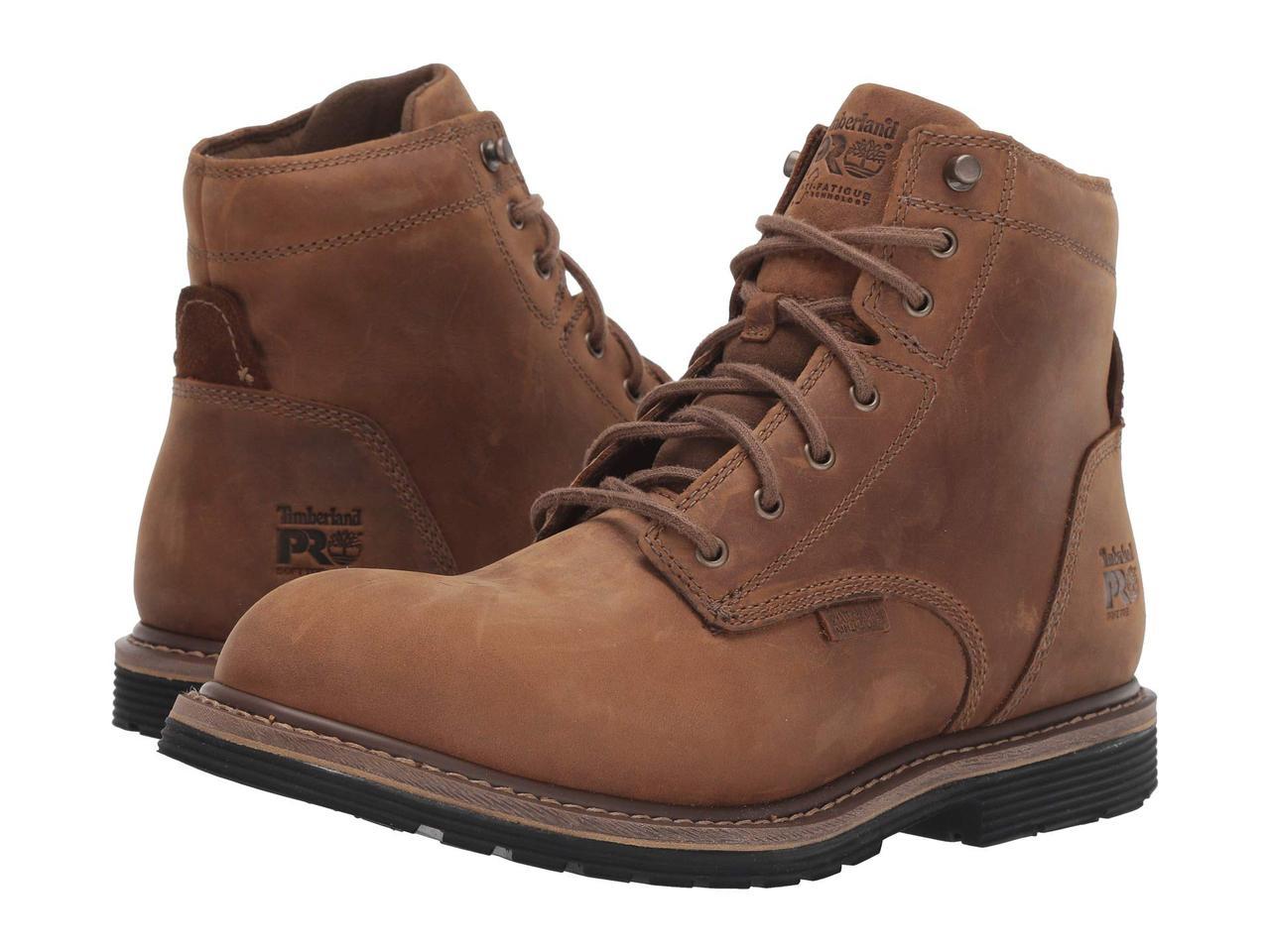 """Ботинки/Сапоги (Оригинал) Timberland PRO Millworks 6"""" Soft Toe Waterproof Brown Gaucho"""