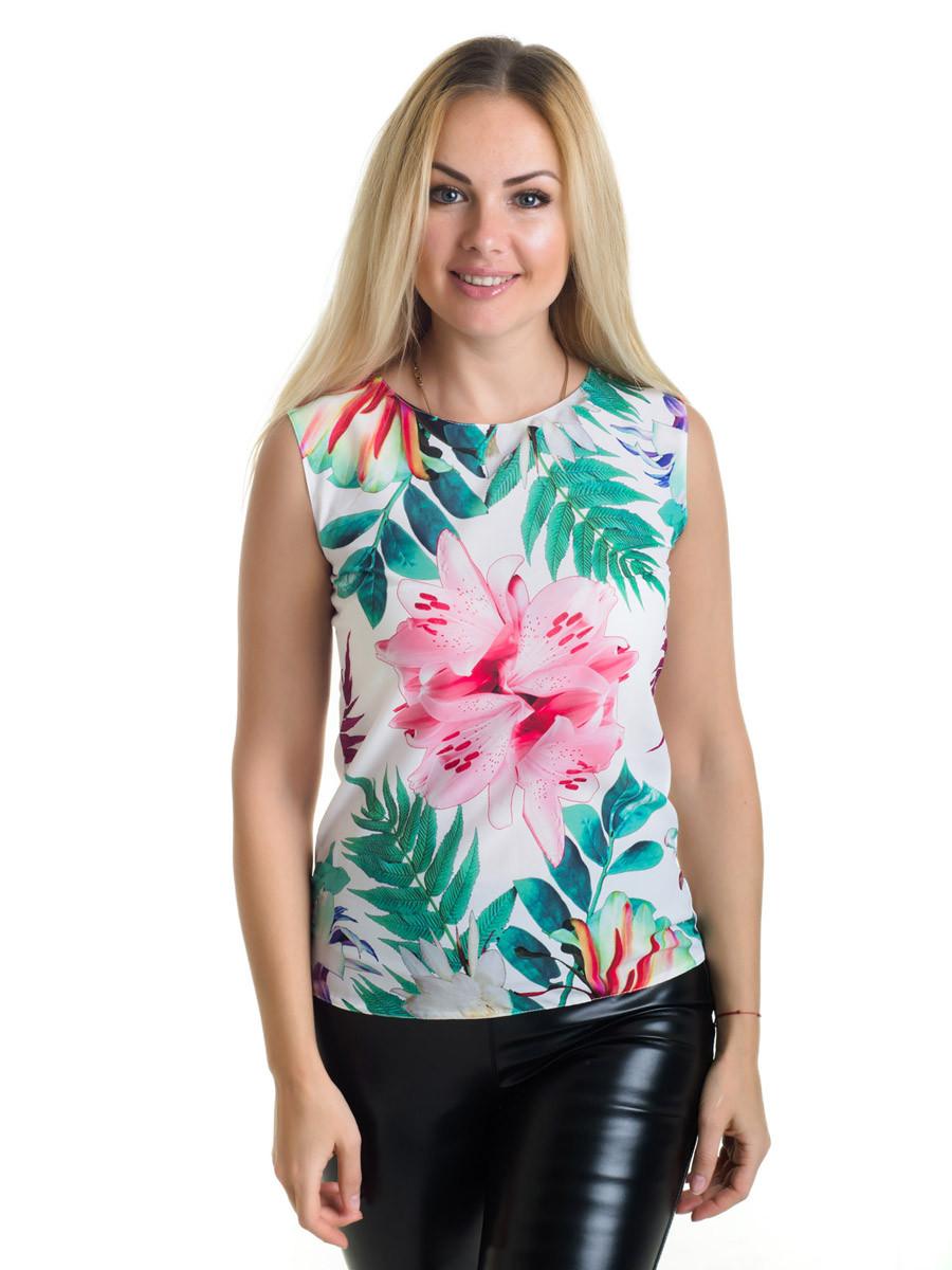 Женская блуза принт без рукава AA2053f
