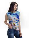 Женская блуза принт без рукава AA2054f, фото 3