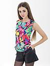 Женская блуза принт без рукава AA2056f, фото 3