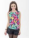 Женская блуза принт без рукава AA2056f, фото 4