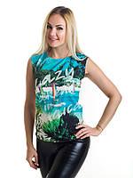 Женская блуза принт без рукава AA2060f, фото 1
