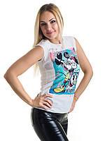 Женская блуза принт без рукава AA2064f, фото 1