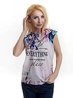 Женская блуза принт без рукава AA2065f, фото 1