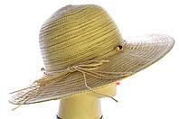 """Шляпа летняя """"Комбинированная солома """""""