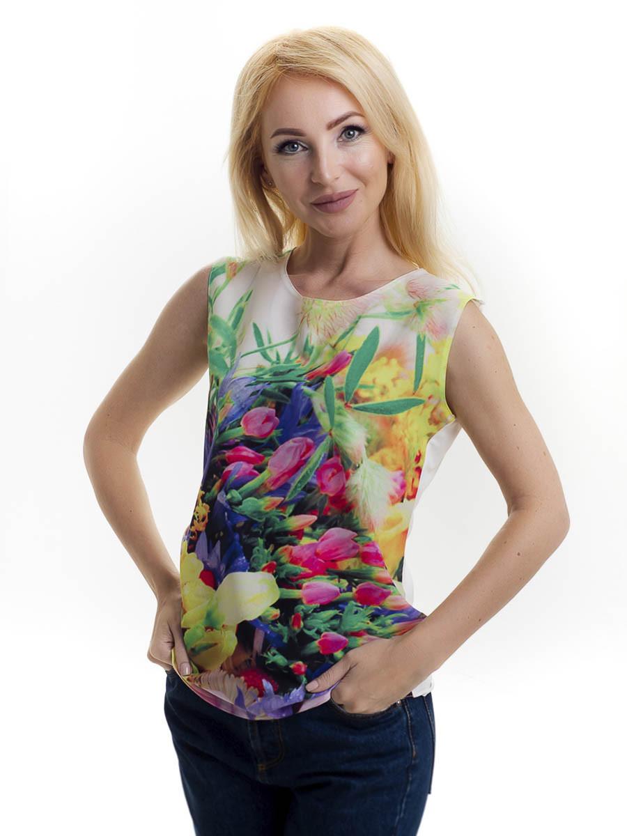 Женская блуза принт без рукава AA2078f