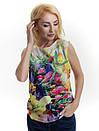 Женская блуза принт без рукава AA2078f, фото 3