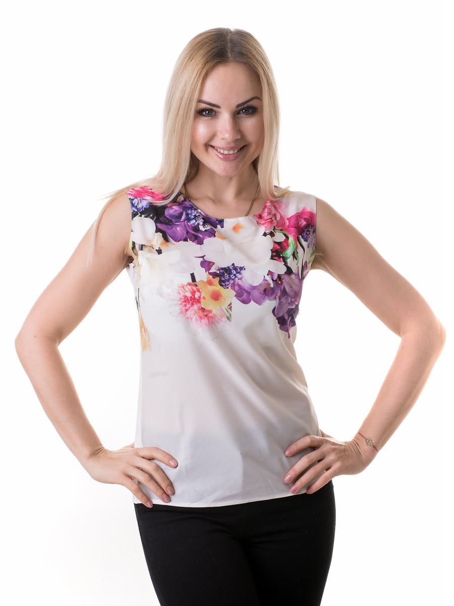 Женская блуза принт без рукава AA2083f