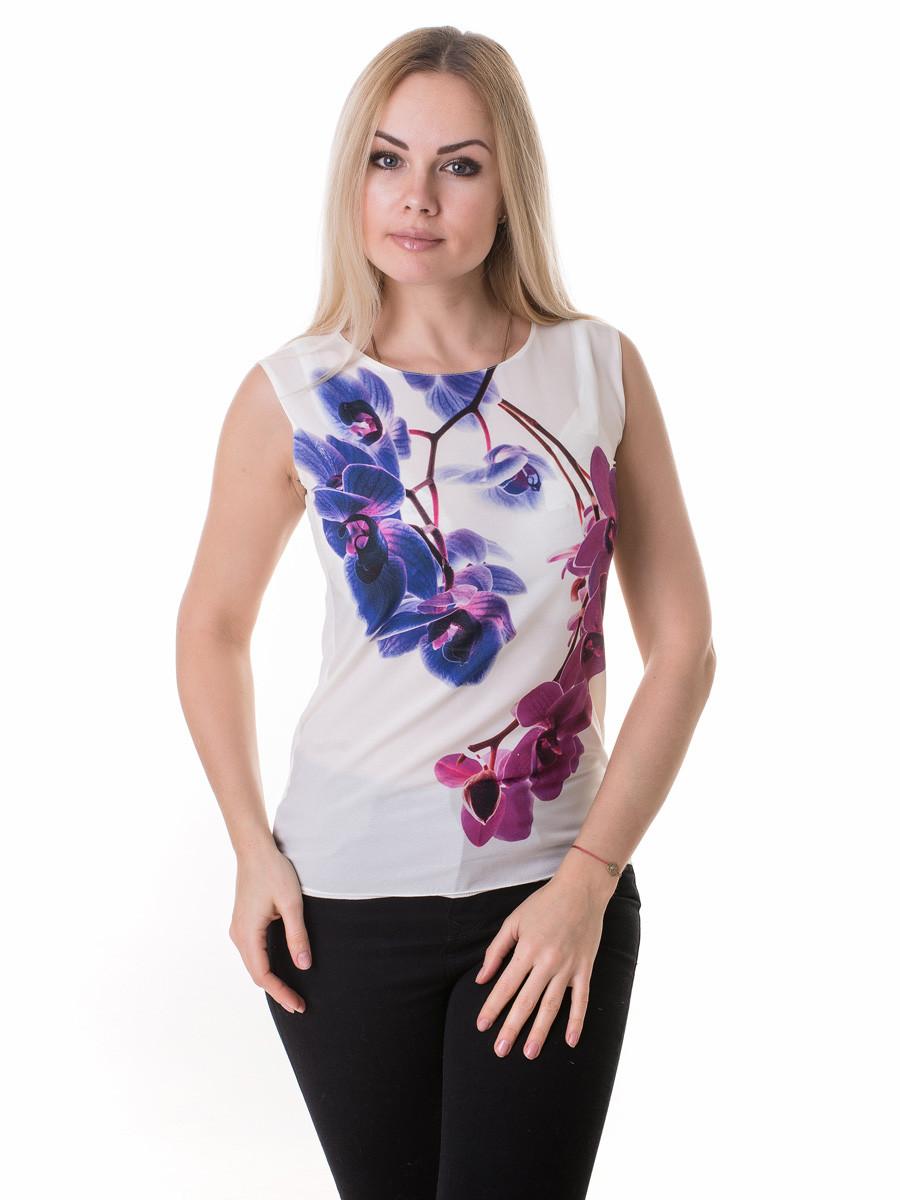 Женская блуза принт без рукава AA2085f