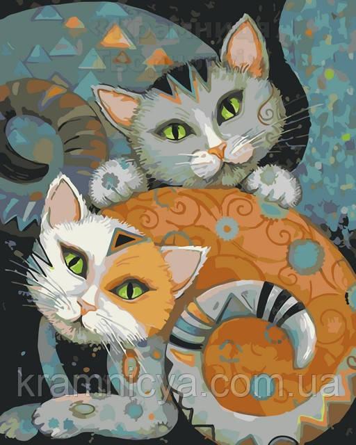 Картина по номерам 40х50 Коты (AS0064)