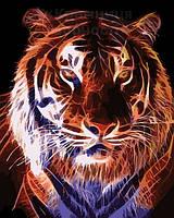 Картина по номерам 40х50 Огненый тигр (AS0073), фото 1