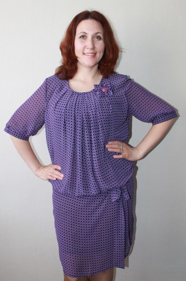 фотография женское летнее платье сиреневого цвета