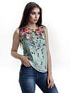 Женская блуза принт без рукава AA2090f, фото 3