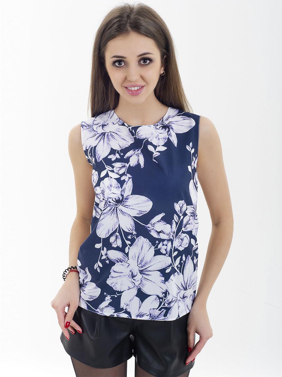 Женская блуза принт без рукава AA2092f