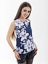Женская блуза принт без рукава AA2092f, фото 3