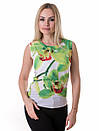 Женская блуза принт без рукава AA2093f, фото 4