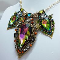 Винтажное красочное ожерелье