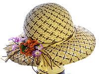 """Шляпа летняя """"Капор"""" цветок"""