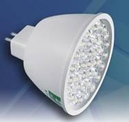 Светодиодная лампочка 220В 2Вт с цоколем G5.3 MR16 БЕЛЫЙ ТЕПЛЫЙ