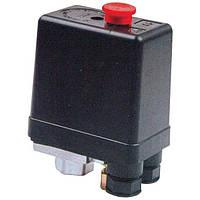 Прессостат 220В(блок автоматики компрессора) под один выход INTERTOOL PT-9093