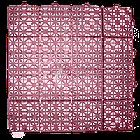 Модульное покрытие пластиковое 305х305 мм Терракотовый, фото 1