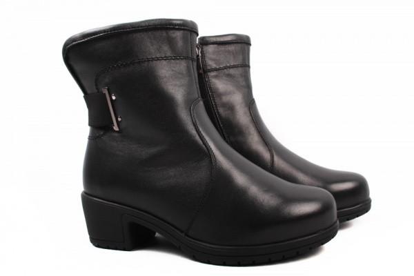 Ботинки Mida натуральная кожа, цвет черный