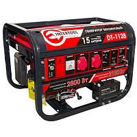 Генератор бензиновый макс мощн 3.1 кВт., ном. 2.8 кВт., 6.5 л.с., 4-х тактный, электрический и ручной пуск 51.7 кг. INTERTOOL DT-1128