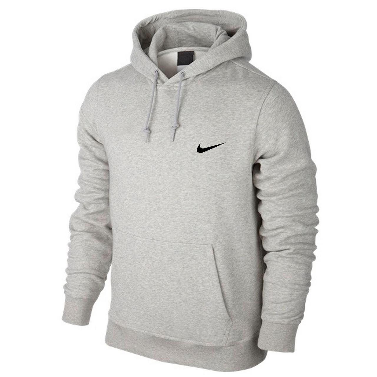 1c120382 Толстовка Мужская Кенгуру Nike, Серая — в Категории